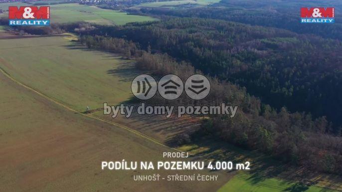 Prodej pole, 4010 m², Unhošť