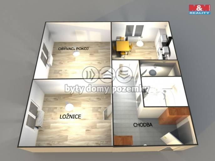 Pronájem, Byt 2+1, 68 m², Prostějov, Šárka