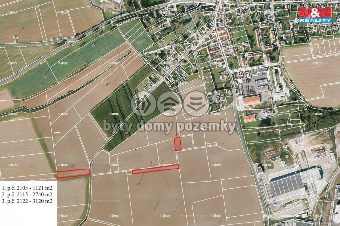 Prodej pole, 6981 m², Dýšina