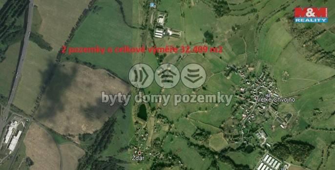 Prodej, pole, 32409 m2, Žďár u Velkého Chvojna