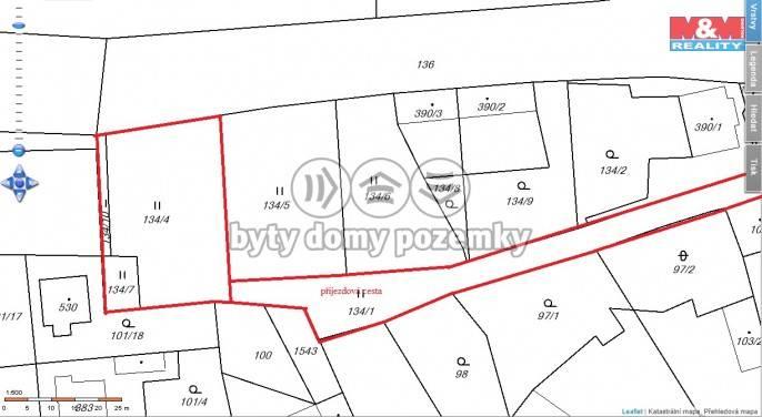 Prodej, Stavební parcela, 1271 m², Budyně nad Ohří, K Trávníku