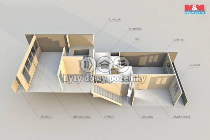 Prodej, Byt 3+1, 82 m², Chomutov, Březenecká