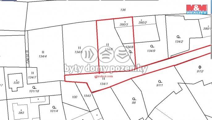 Prodej, Stavební parcela, 1200 m², Budyně nad Ohří, K Trávníku