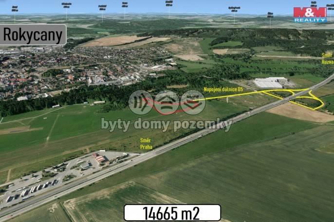 Prodej, Stavební parcela, 14665 m², Rokycany