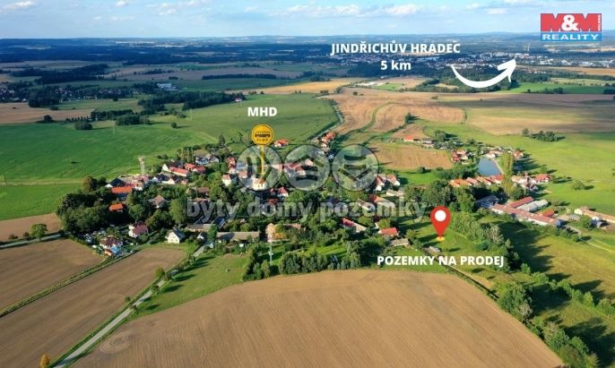 Prodej, Pozemek k bydlení, 1240 m², Jindřichův Hradec