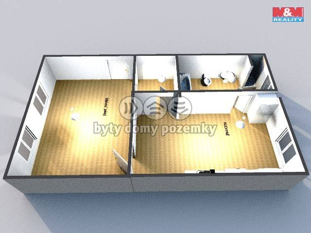 Pronájem, Byt 1+1, 45 m², Prostějov, Březinova