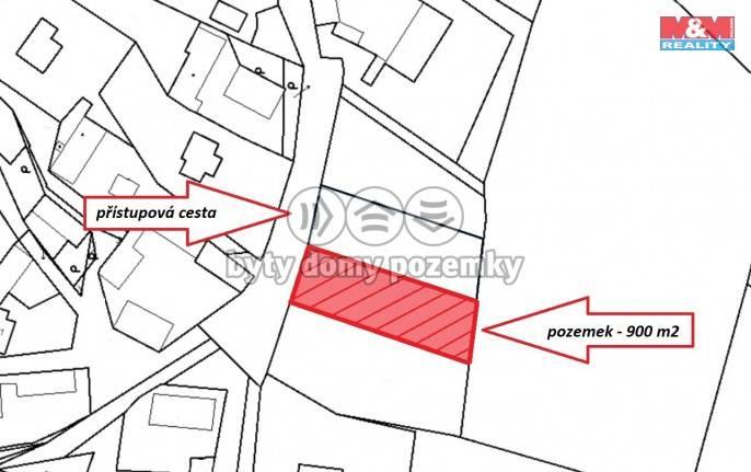 Prodej, Stavební parcela, 900 m², Drhovy