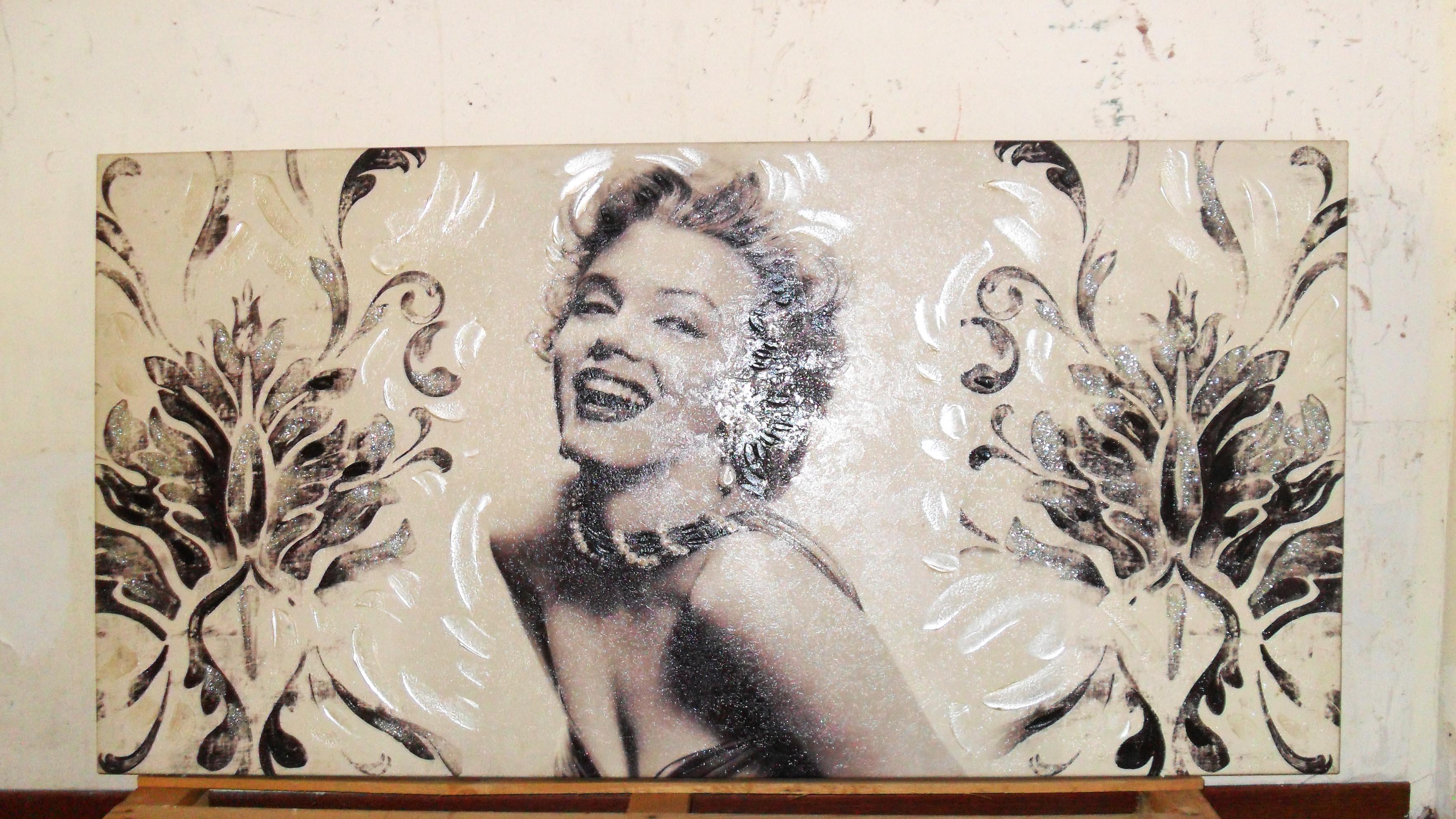 Stock di 3 quadri Marylin Monroe decorati a mano - Astemobili.it