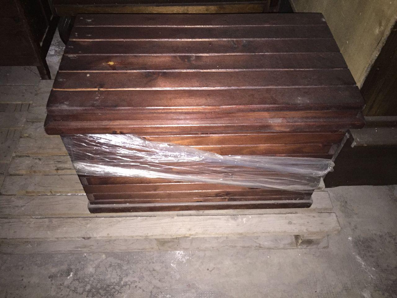 n 1 cassapanca in legno impellicciata in pelle n 2 ForCassapanche Piccole Legno
