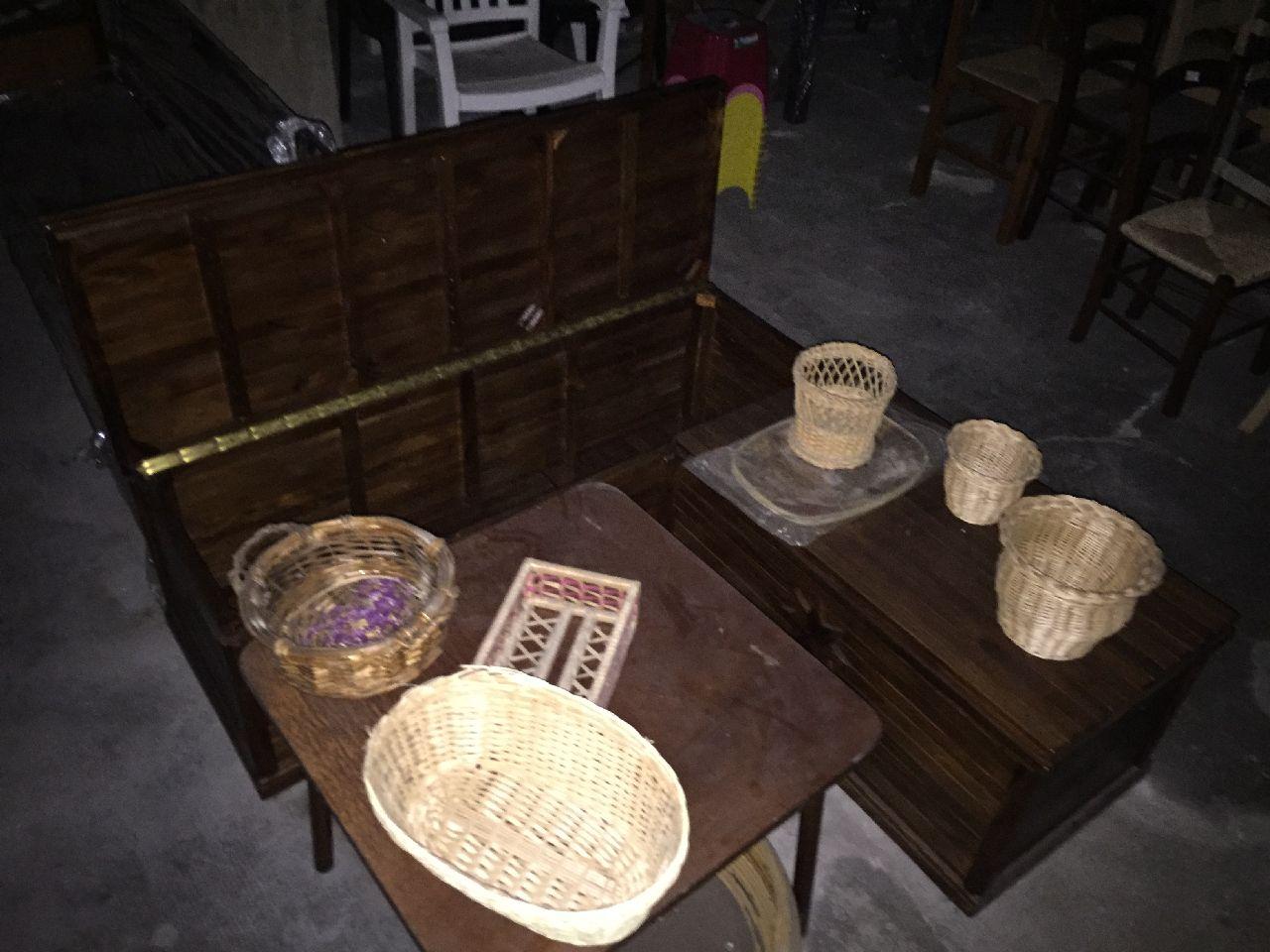 Panchina vimini vendo panchina in vimini mt a modena for Cassapanca vimini