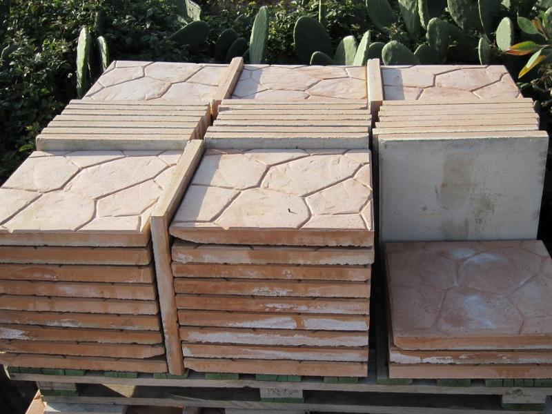 Stock costituito da n 84 mattoni per esterno in cemento for Esterno di mattoni artistici