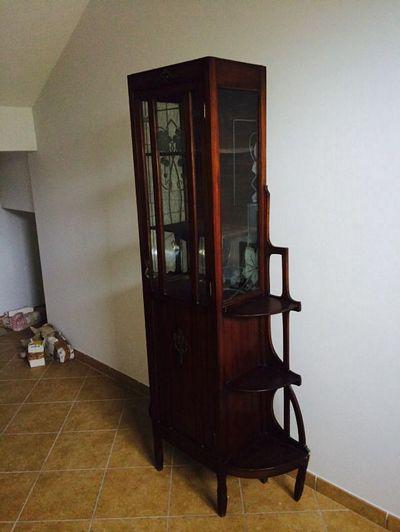 Mobile vetrina in legno antico - Astemobili.it