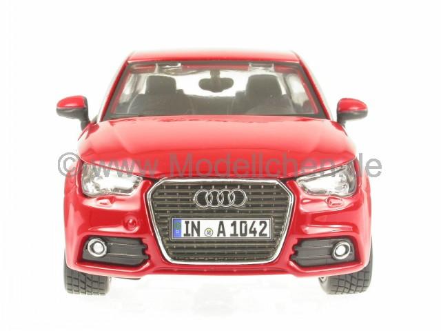 Audi A1 schwarz Modellauto 18-21058 Bburago 1:24