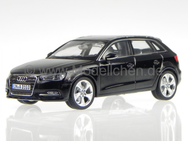 audi a3 sportback 2012 schwarz modellauto schuco 1 43. Black Bedroom Furniture Sets. Home Design Ideas