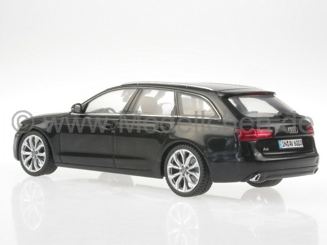 audi a6 c7 avant schwarz modellauto schuco 1 43. Black Bedroom Furniture Sets. Home Design Ideas