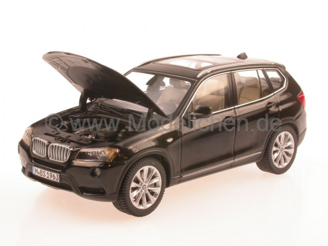 bmw x3 f25 2010 schwarz modellauto schuco 1 43. Black Bedroom Furniture Sets. Home Design Ideas