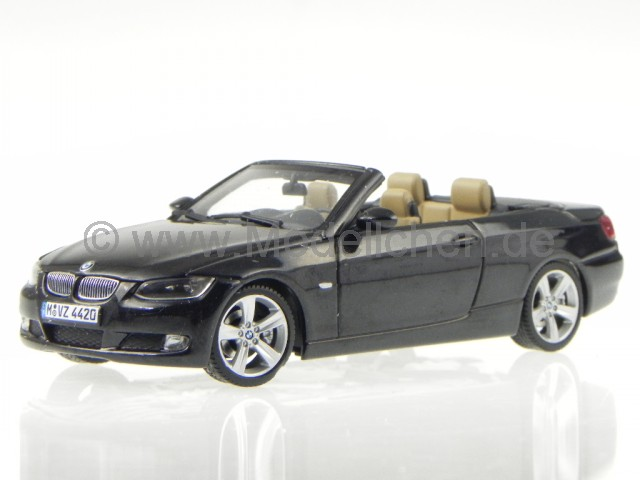 bmw e93 3er cabrio saphirschwarz modellauto minichamps 1 43. Black Bedroom Furniture Sets. Home Design Ideas