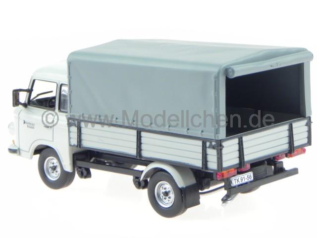 Barkas B1000 HP Pick-Up Pritsche Plane DDR Ostalgie Modellauto 1:43