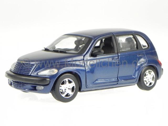 Chrysler PT-Cruiser Cabrio Blau 2000-2010 1//24 Motormax Modell Auto mit oder ohn