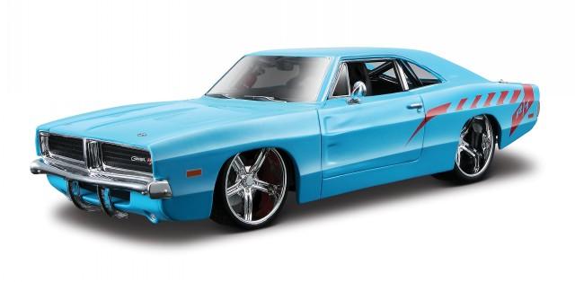 dodge charger r t 1969 blau custom tuning modellauto 31091. Black Bedroom Furniture Sets. Home Design Ideas