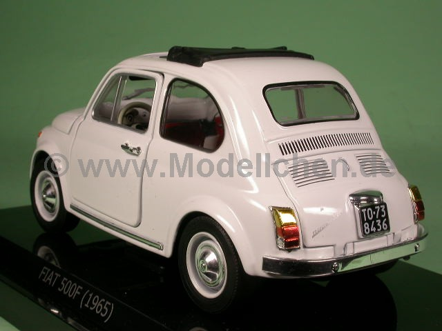 fiat 500 f weiss 1965 modellauto quattroroute 1 24. Black Bedroom Furniture Sets. Home Design Ideas
