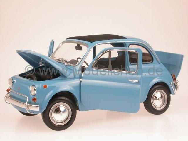 fiat 500l blau modellauto 150121600 minichamps 1 18. Black Bedroom Furniture Sets. Home Design Ideas