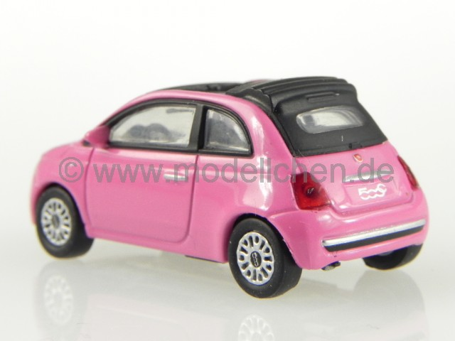 fiat 500c 500 c cabrio 2010 so pink modellauto 770047. Black Bedroom Furniture Sets. Home Design Ideas