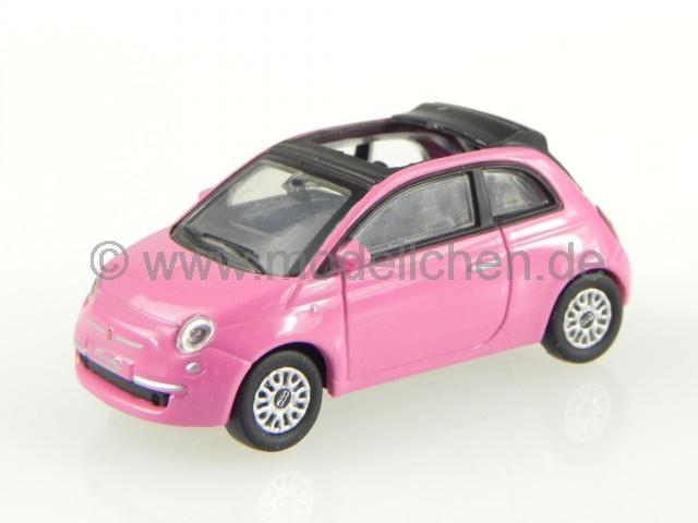 fiat 500c 500 c cabrio 2010 so pink modellauto 770047. Black Bedroom Furniture Sets. Home Design Ideas