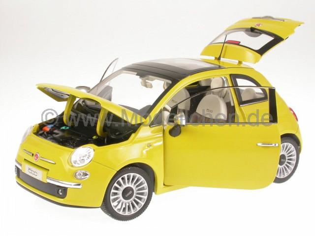 fiat 500 lounge gelb modellauto 187741 norev 1 18. Black Bedroom Furniture Sets. Home Design Ideas