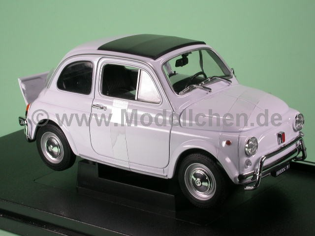 fiat 500 nuova 1957 weiss modellauto welly 1 18. Black Bedroom Furniture Sets. Home Design Ideas