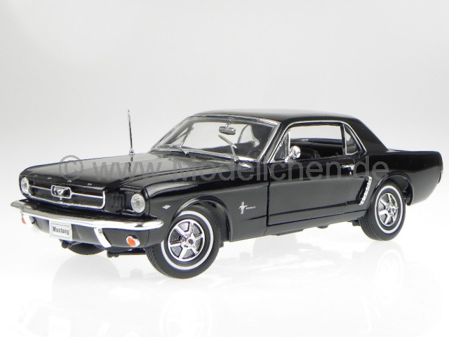 ford mustang coupe 1964 1 2 schwarz modellauto 12519 welly. Black Bedroom Furniture Sets. Home Design Ideas