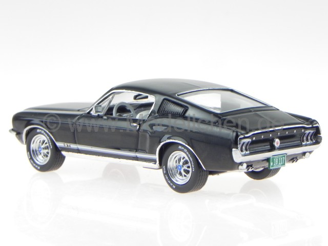premiumx ford mustang gt fastback 1967 schwarz modellauto. Black Bedroom Furniture Sets. Home Design Ideas
