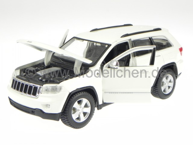 jeep grand cherokee laredo weiss modellauto 31205 maisto 1 24. Black Bedroom Furniture Sets. Home Design Ideas