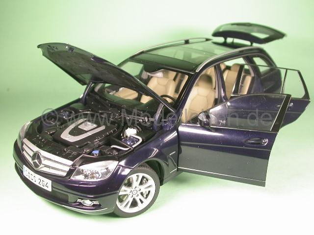 mercedes s204 c-klasse t-modell blau modellauto autoart 1:18