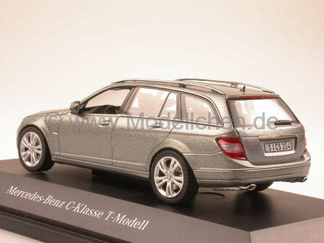 mercedes s204 c-klasse t-modell palladiumsilber modellauto schuco 1:43