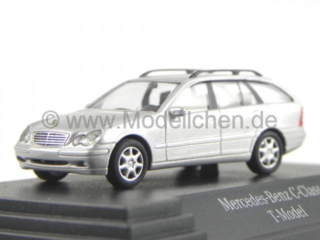 mercedes s203 c-klasse t-modell silber modellauto busch 1:87