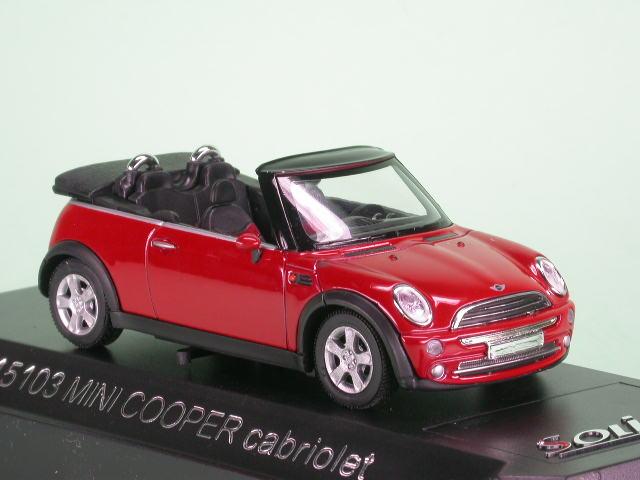 Mini Cooper Cabrio Rot Modellauto Solido 143