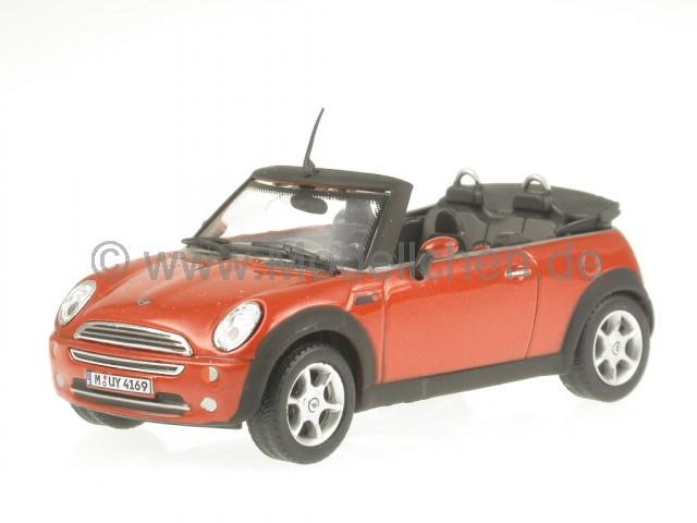 Mini Cooper rot Dach weiss Modellauto C171BND-005 Cararama 1:72