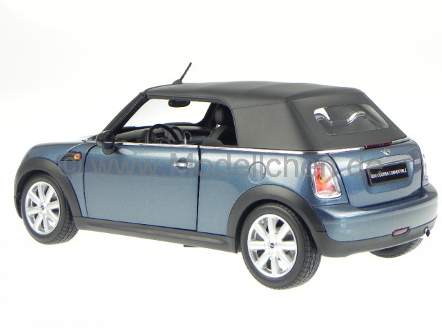 mini cooper cabrio r57 2009 blau modellauto 8749b kyosho 1 18. Black Bedroom Furniture Sets. Home Design Ideas