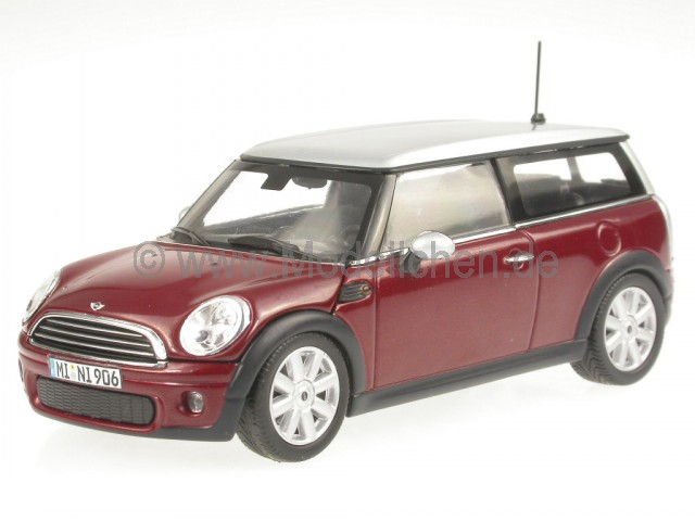 mini cooper clubman rot modellauto minichamps 1 43. Black Bedroom Furniture Sets. Home Design Ideas