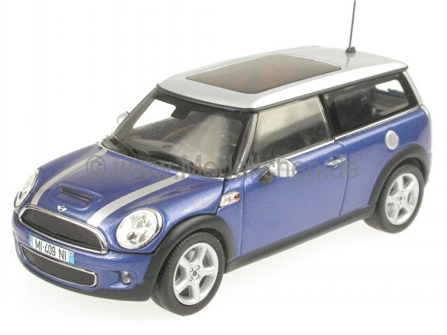 mini cooper s clubman blau modellauto minichamps 1 43. Black Bedroom Furniture Sets. Home Design Ideas