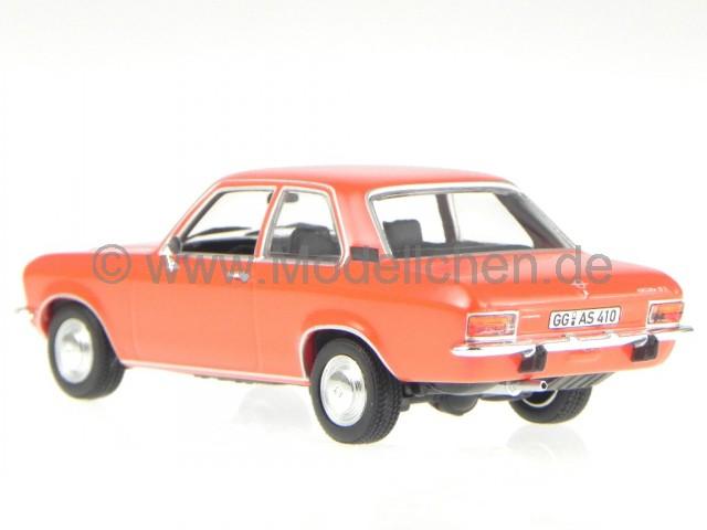 Opel Ascona A 1970 rot Modellauto 1:43 Maxichamps