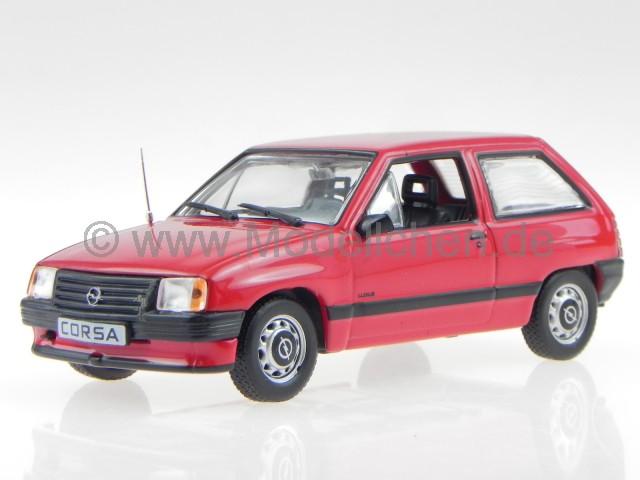 Opel Corsa A Rot Modellauto In Vitrine 1 43