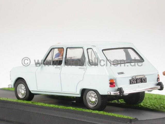 renault 6 r6 hellblau modellauto diorama altaya 1 43. Black Bedroom Furniture Sets. Home Design Ideas