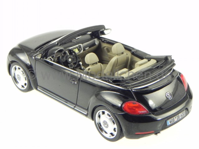 vw beetle cabrio schwarz deep black perleffekt modellauto schuco 1 43. Black Bedroom Furniture Sets. Home Design Ideas