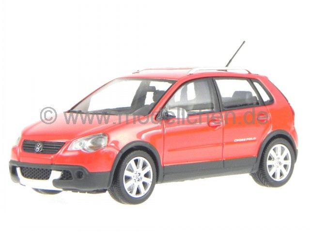 vw cross polo 2006 rot modellauto 400054470 minichamps 1 43. Black Bedroom Furniture Sets. Home Design Ideas