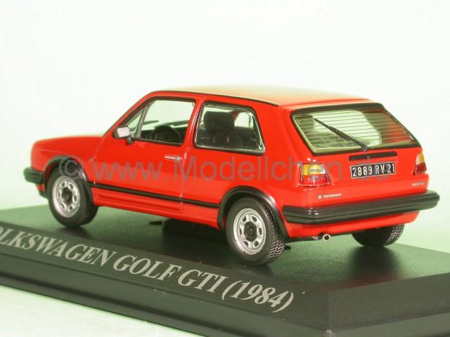 nn vw golf 2 gti 1984 rot modellauto 1 43. Black Bedroom Furniture Sets. Home Design Ideas