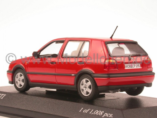minichamps vw golf 3 gti rot modellauto minichamps 1 43. Black Bedroom Furniture Sets. Home Design Ideas
