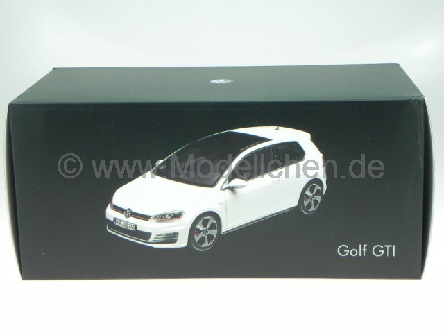 vw golf 7 gti 2 t rer 2013 weiss modellauto norev 1 18. Black Bedroom Furniture Sets. Home Design Ideas