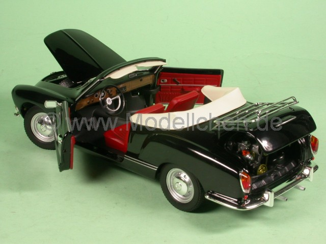 minichamps vw karmann ghia cabrio schwarz modellauto 241245016 minichamps 1 24. Black Bedroom Furniture Sets. Home Design Ideas